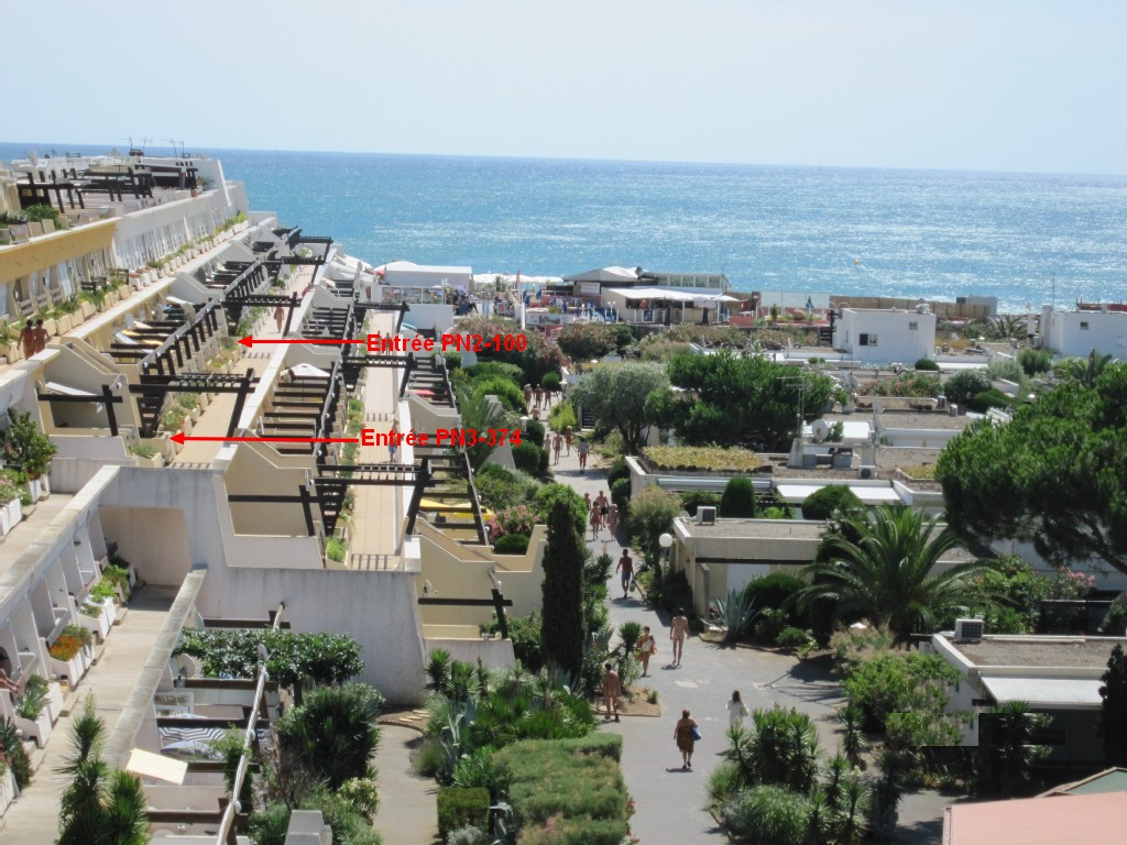 Emplacement location studio Port Nature 2 Cap d'Agde Naturiste